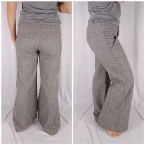 Anthropologie Cidra Wool Blend Wide Leg Trousers